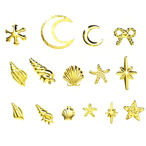 Metal stamping embellishments (Gold-plated)