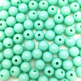 Acrylic round beads mint green