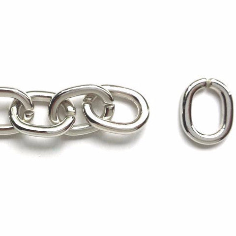 Plastic oval links (Platinum)