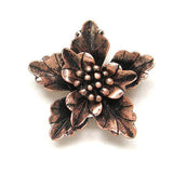 Pendants (Antique Red Copper) - P101RC Flower