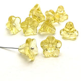 Glass bead bell flower - Pale yellow