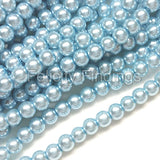 Glass pearl - 4mm (Pastel blue)