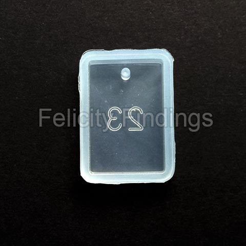 Silicone pendant mold (Rectangle 20x30)