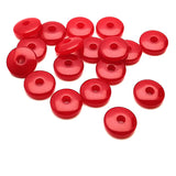 Resin Rondelle Beads 6x2 Red