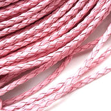 PU cord - Rounded (3mm) Light pink
