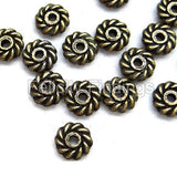 Metal beads - SPB Whirl Bronze