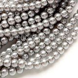 Glass pearl - 4mm (Silver grey)