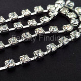 Chains (Silver plated) - Rhinestone 2mm