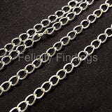 Chains (Silver plated) - Twisted 3.5mm