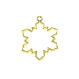 Open back bezel - Snowflake (Gold plated)