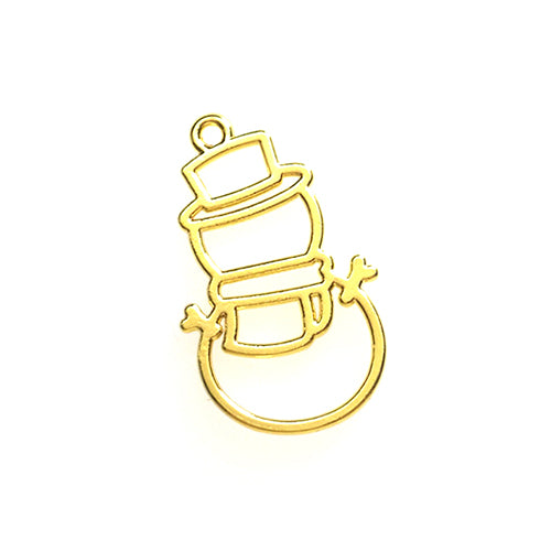 Open back bezel - Snowman (Gold plated)