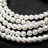 Glass pearl - 4mm (White)