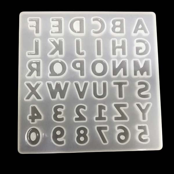 Silicone mold (Alphabet - Clear finish)