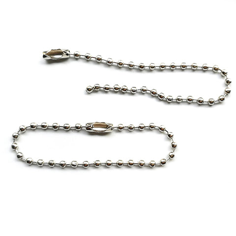 Ball chain with connector (Nickel color)