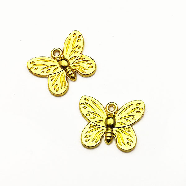 Charms (Gold plated) -  Butterfly