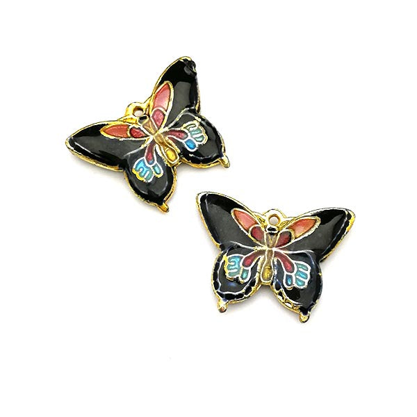 Cloisonne Butterfly charm