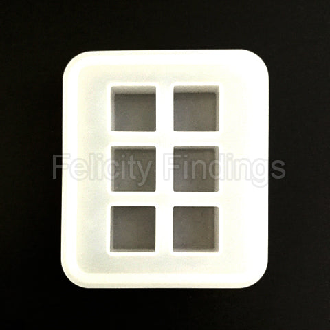 Silicone mold (Cube 16mm - no hole)