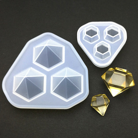 Silicone mold (3D diamond - Clear finish)