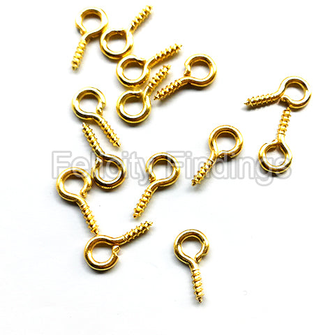 Eye screws (Gold plated)