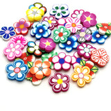 Polymer clay slices (Big) - Flowers