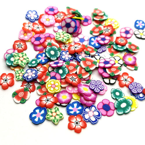 Polymer clay slices (Small) - Flowers