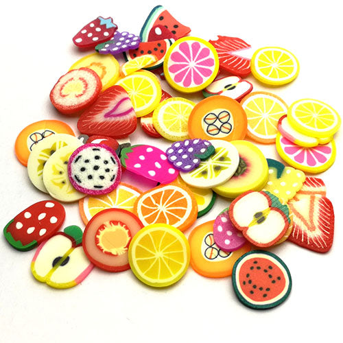 Polymer clay slices (Big) - Fruits