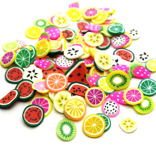 Polymer clay slices (Small) - Fruits
