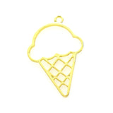 Open back bezel - Ice-cream cone (Gold plated)