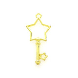 Open back bezel - Star Key/wand (Gold plated)