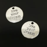 Charms (Antique Silver) - CHS Live Your Dream