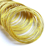 Memory wire (Yellow gold) - 55mm