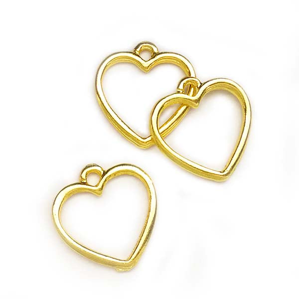 Open back bezel - Heart small (Gold plated)