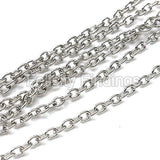 Chains (Platina plated) - 2mm
