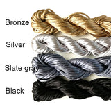 Nylon thread (Satin look) - Sliver/Black