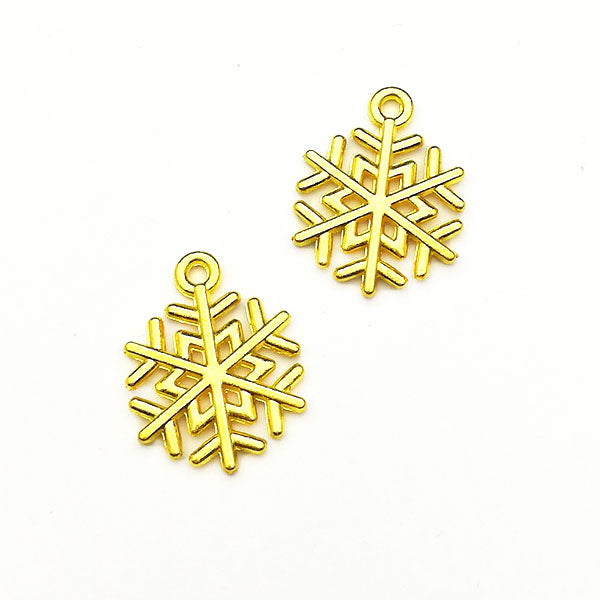 Charms (Gold plated) -  Snowflake
