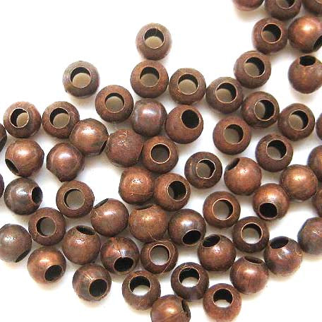 Round Metal beads - SPB-RC Red copper