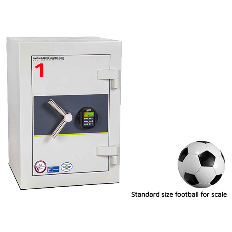 London Grade 3 (Size 1) Biometric Fingerprint Safe, London & Home Counties Safe Company, London Eurograde 3