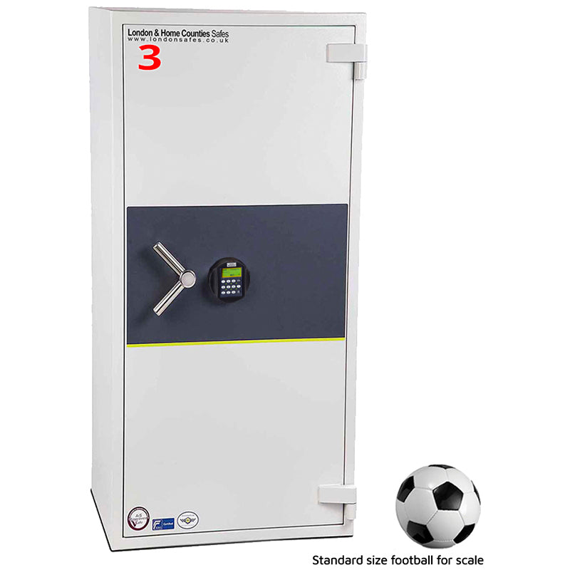 London Grade 3 (Size 3) Biometric Fingerprint Safe, London & Home Counties Safe Company, London Eurograde 3