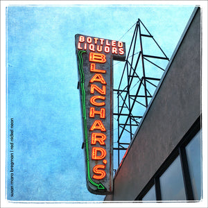 Photo of Blanchard's Bottled Liquors in Allston, Massachusetts | Susan Mara Bregman | Red Nickel Neon