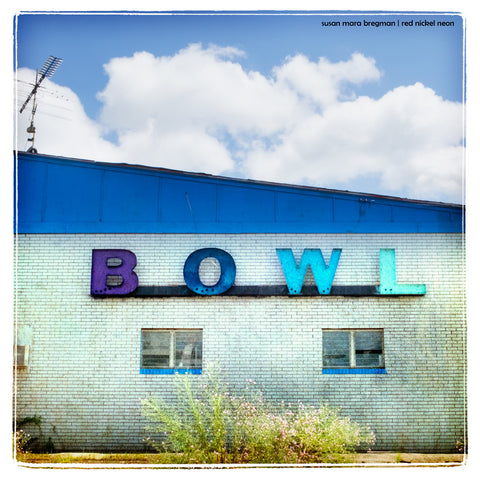 Square Photograph of Abandoned Bowling Alley