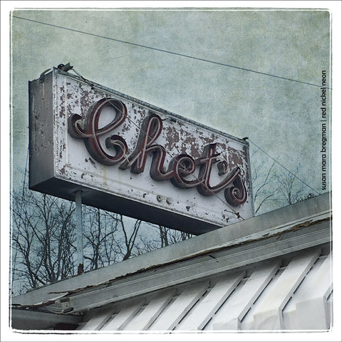 Chet's Diner Vintage Sign Photograph