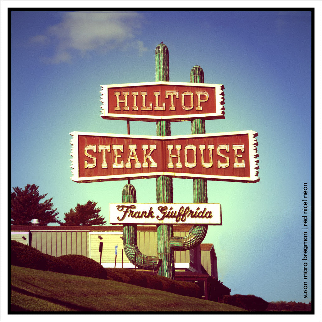 Photo of Hilltop Steak House on Route 1 in Saugus, Massachusetts, from Susan Mara Bregman Red Nickel Neon