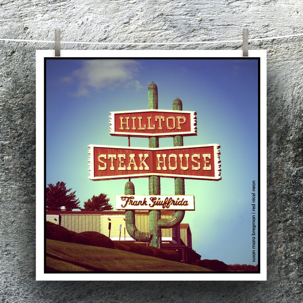 Photo of Hilltop Steak House from Susan Mara Bregman Red Nickel Neon