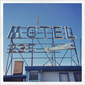 Retro Motel Roadside Photograph
