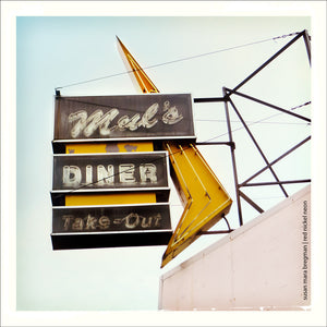 Mul's Diner in South Boston | Photo by Susan Mara Bregman | red nickel neon