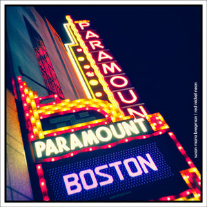 Boston Paramount art deco theater sign | Photo by Susan Mara Bregman | Red Nickel Neon