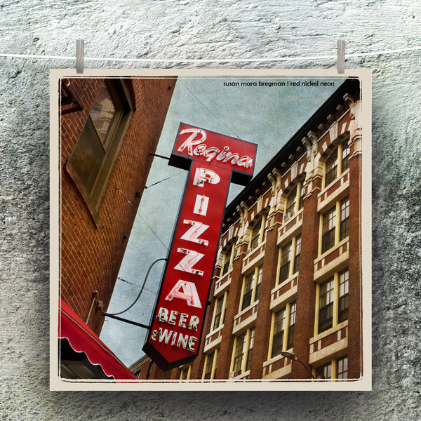 Boston Regina Pizza Neon Sign Photograph