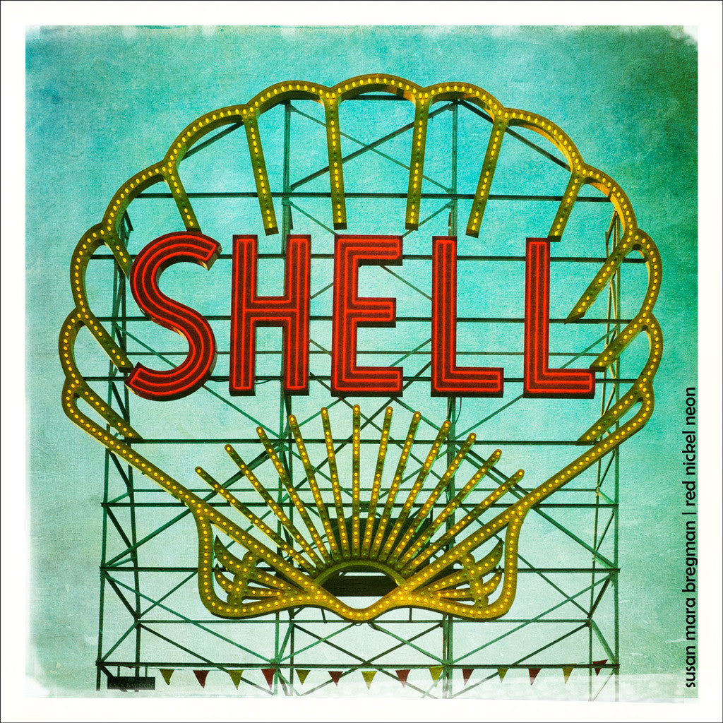 Shell Sign Vintage Style Photograph