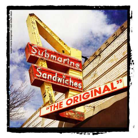 "Mid-Century Sign for ""The Original"" Submarine Sandwiches"