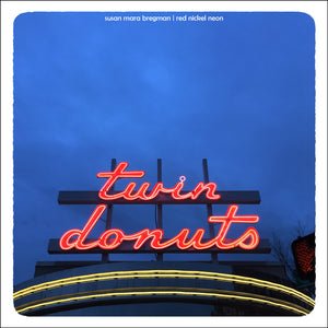 Square Photograph of Mid-Century Donut Shop Neon Sign